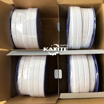 გაფართოებული PTFE ერთობლივი Sealant Gasket Tape ერთად წებოვანი
